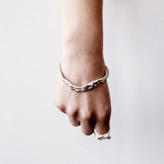 Unknown Species | Textured Statement Silver Bangle