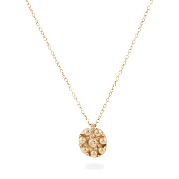 Cairn 9ct gold choker pendant