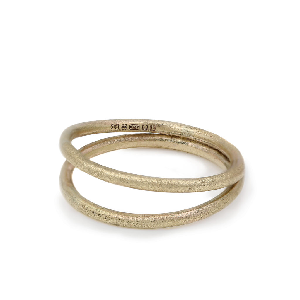 dovile b 9ct yellow gold double band