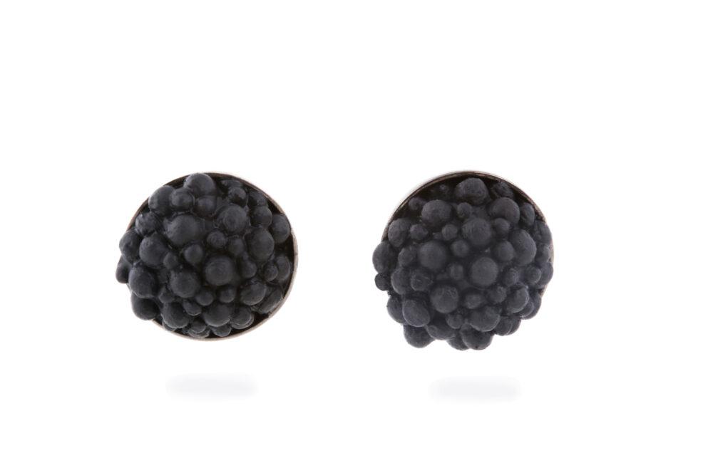 Black Silicone Studs