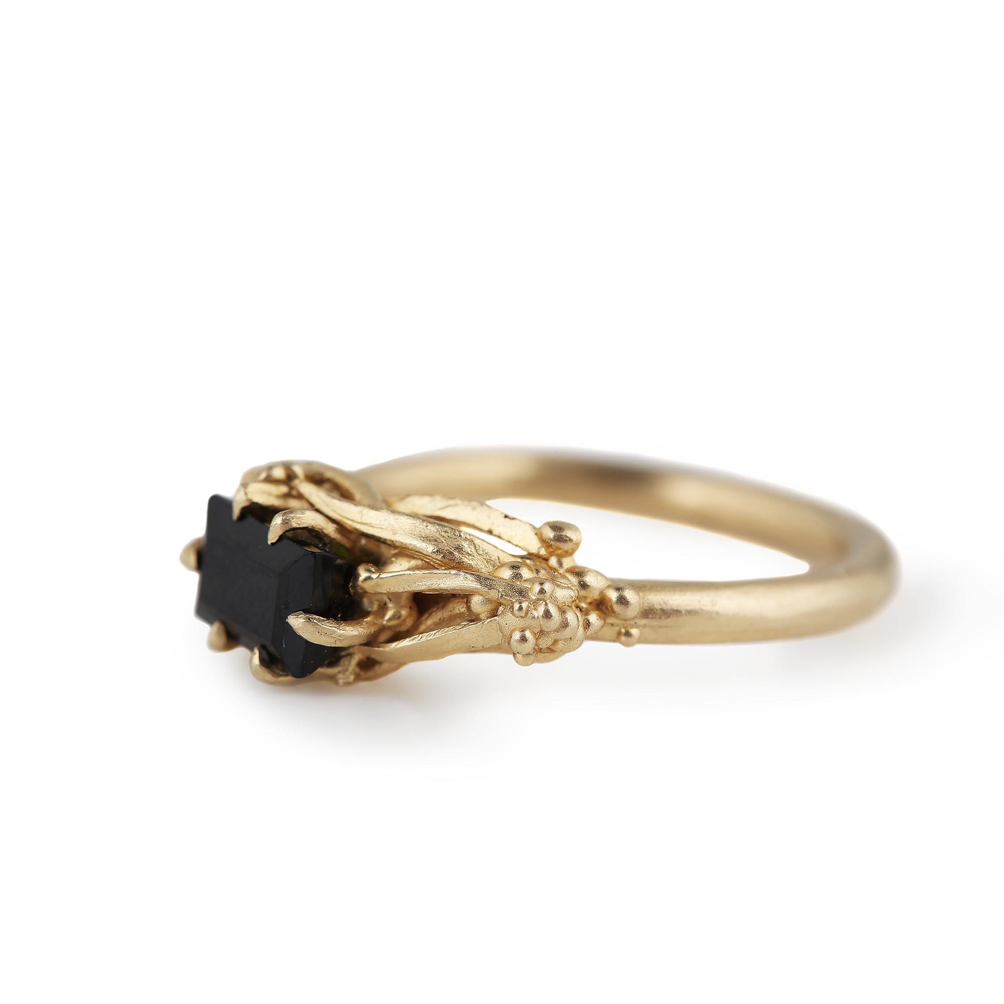 dovile b engagement ring gold tourmaline