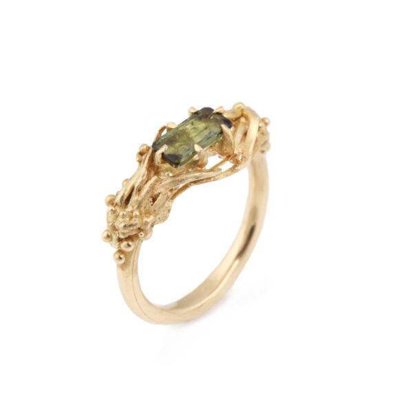 Green Tourmaline 18ct Gold Ring