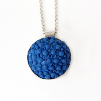 Octocoral   Silver and Silicone Pendant