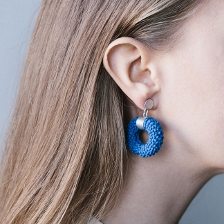 Eledone | Silver and Silicone Earrings