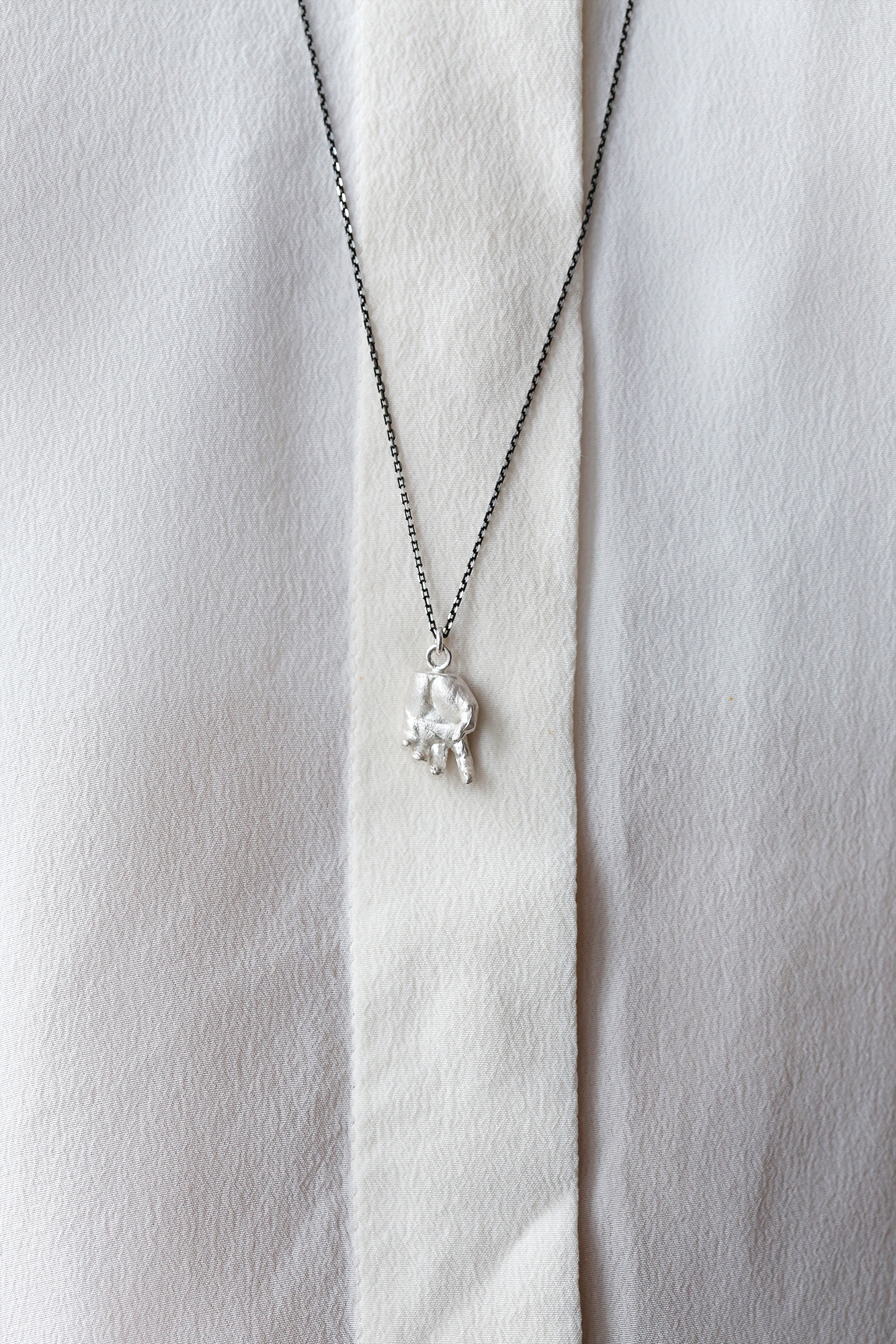 Phobia | Silver Hand Pendant All By Herself