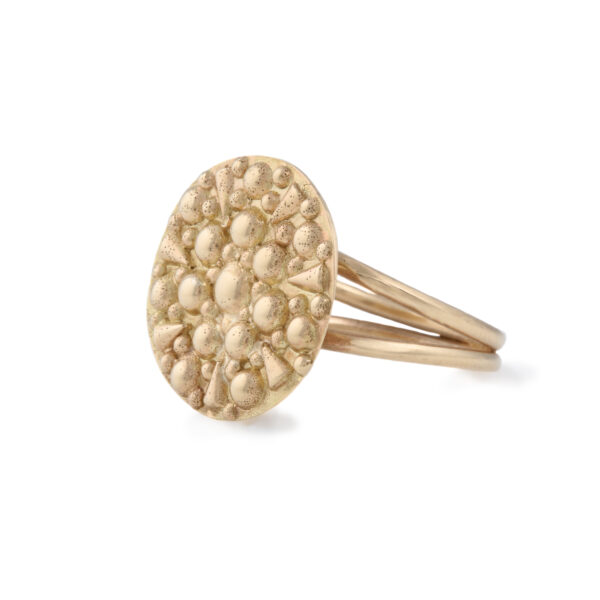 Soleil Gold Disc Ring