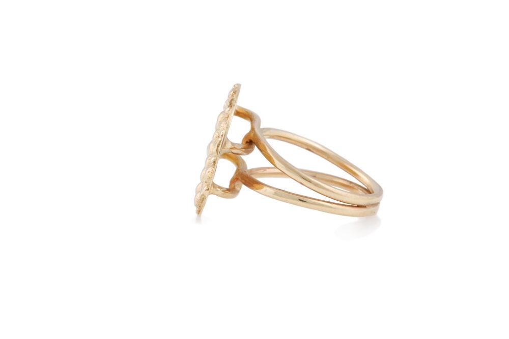 Soleil Gold Disc Ring