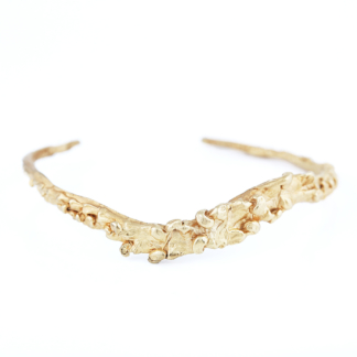 Unknown Species | Textured Gold Cuff