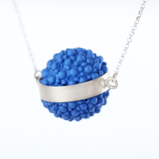 Platygyra | Silver and Silicone Ball Pendant