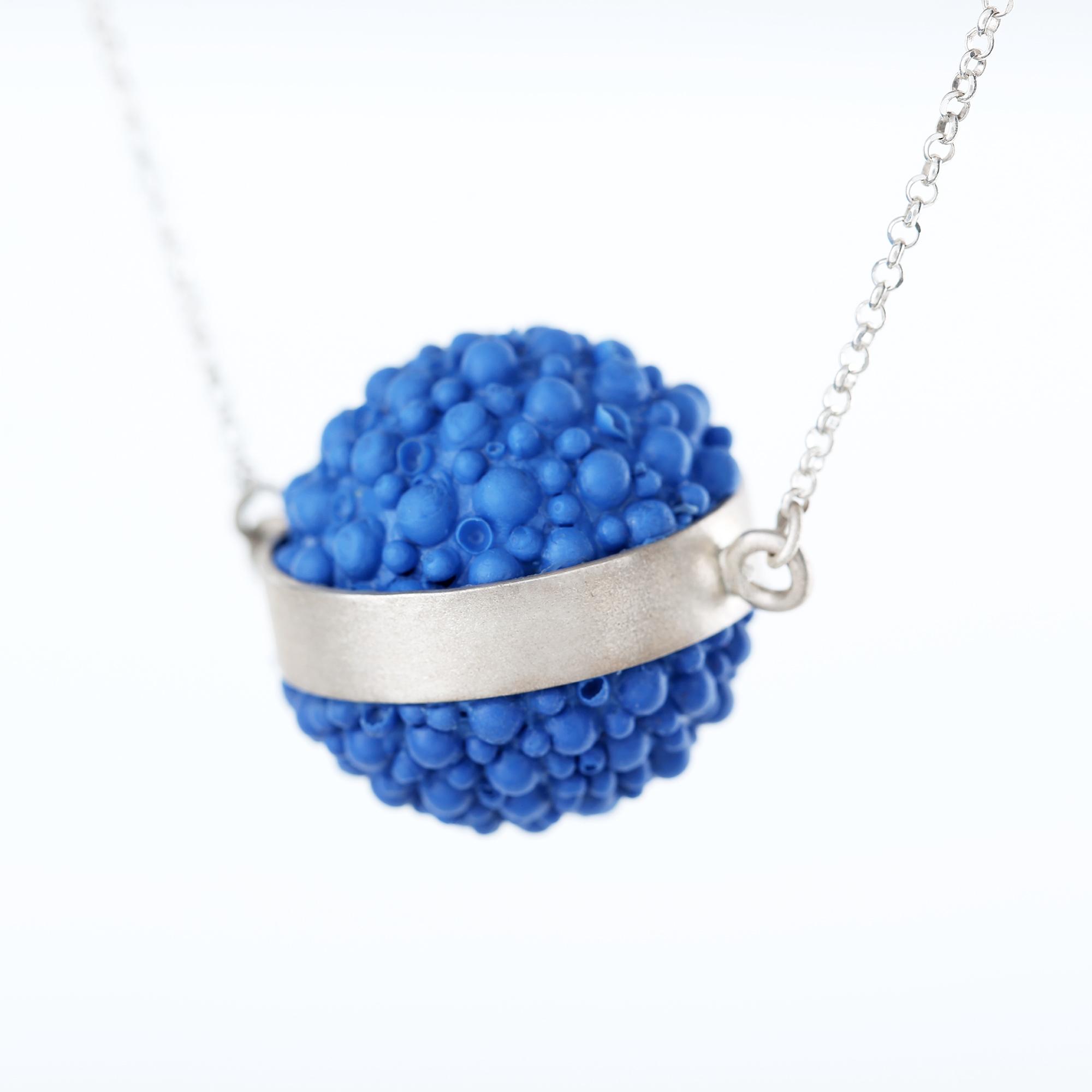 dovile b. nautilus silicone coral pendant