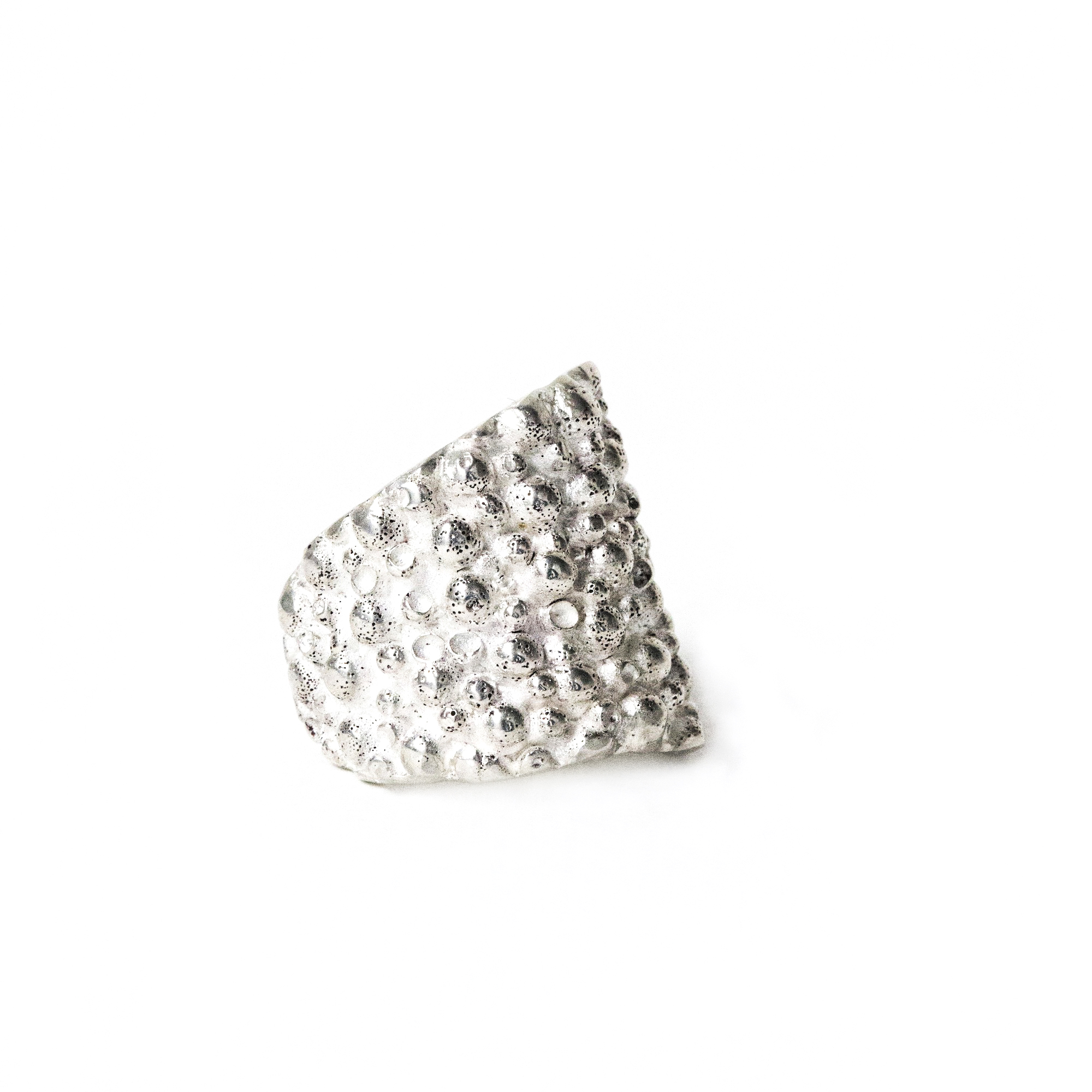 dovile b. nautilus stingray shield ring