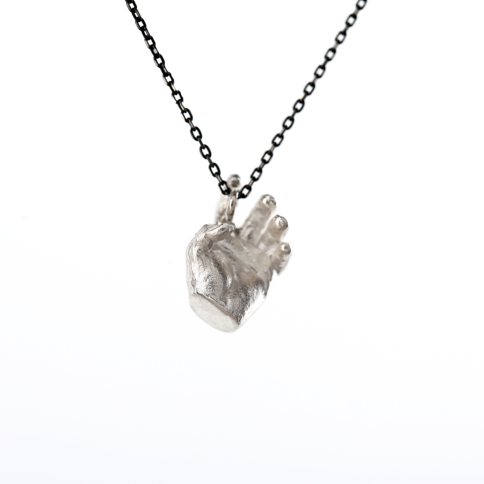 Phobia   Silver Hand Pendant Carol