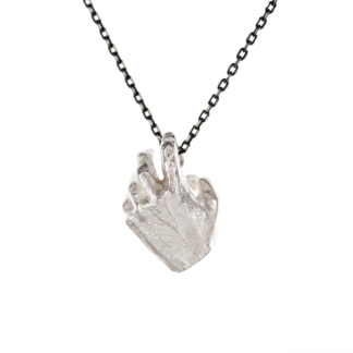 Carol | Silver Hand Pendant