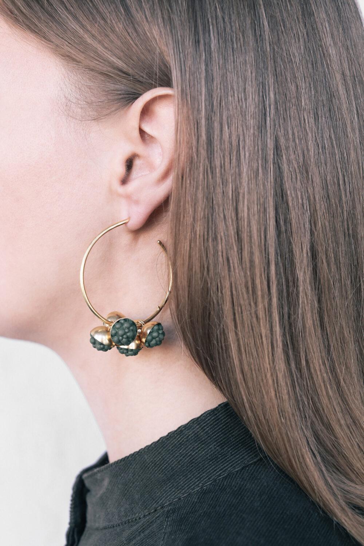 Sea Anemone Statement Silicone Hoop Earrings