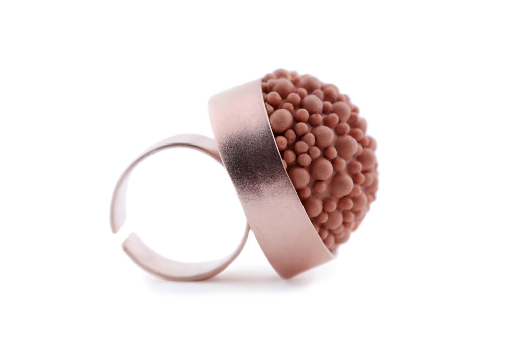 terracotta silicone rose gold ring