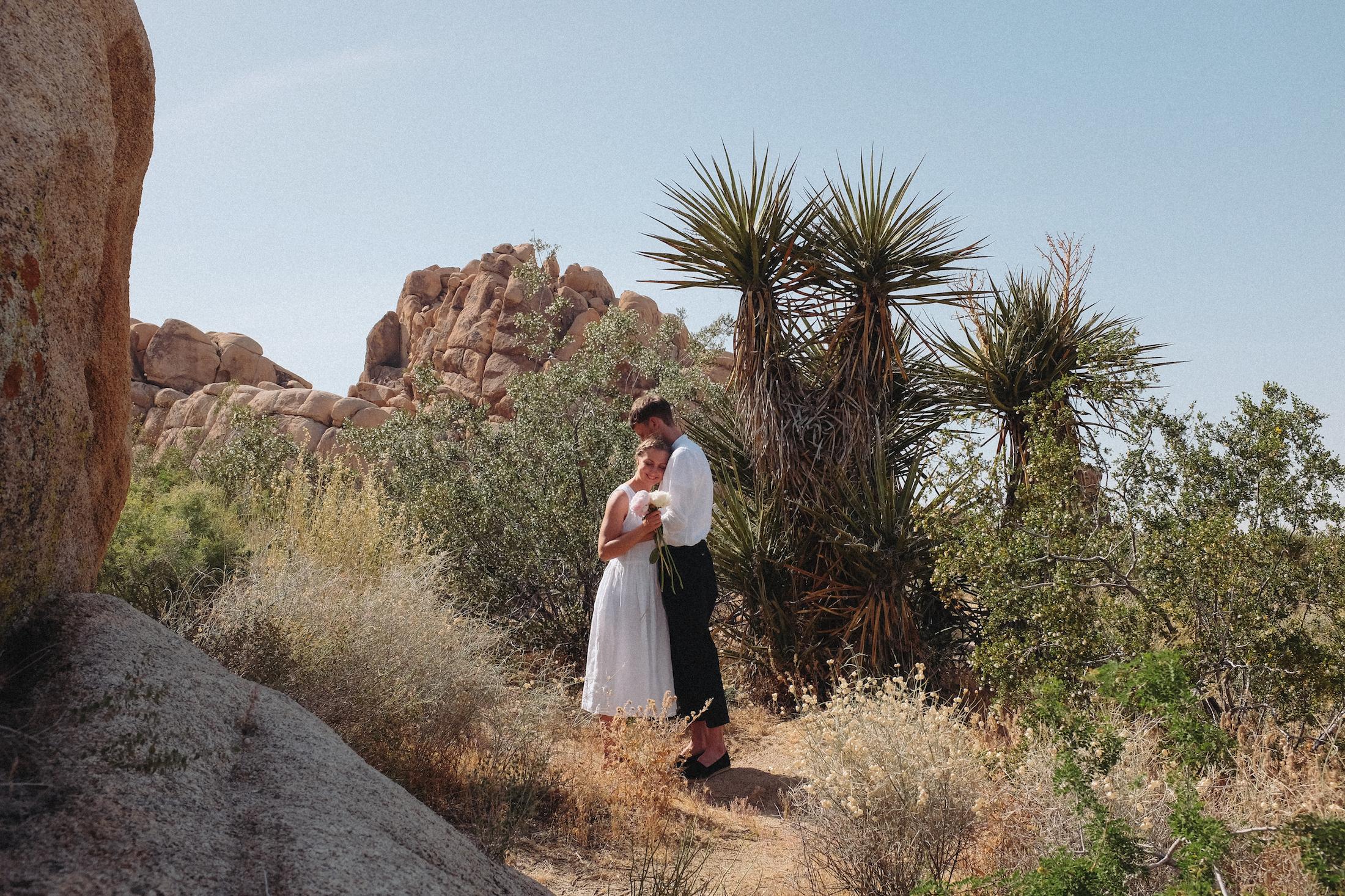 dovile b wedding joshua tree rustic
