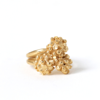 Sea Urchin | Double Gold Plated Silver Ring