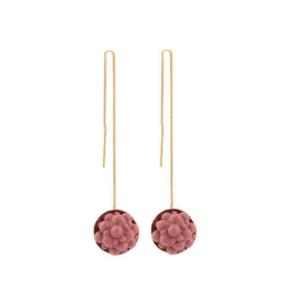 dovile b. / Sphere Rouge Silicone Silver Threaded Earrings