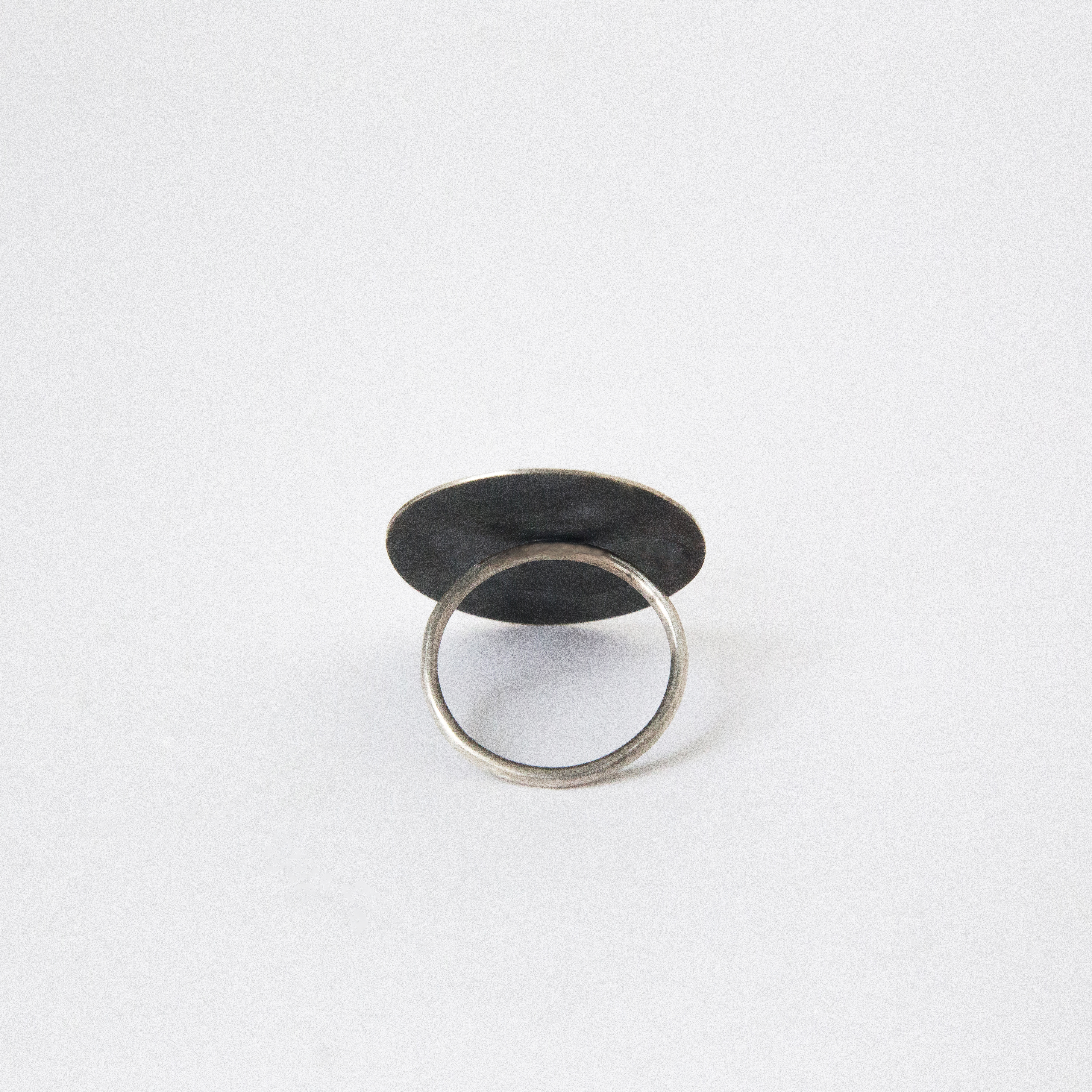 Minimalist silver statement ring by Dovile B