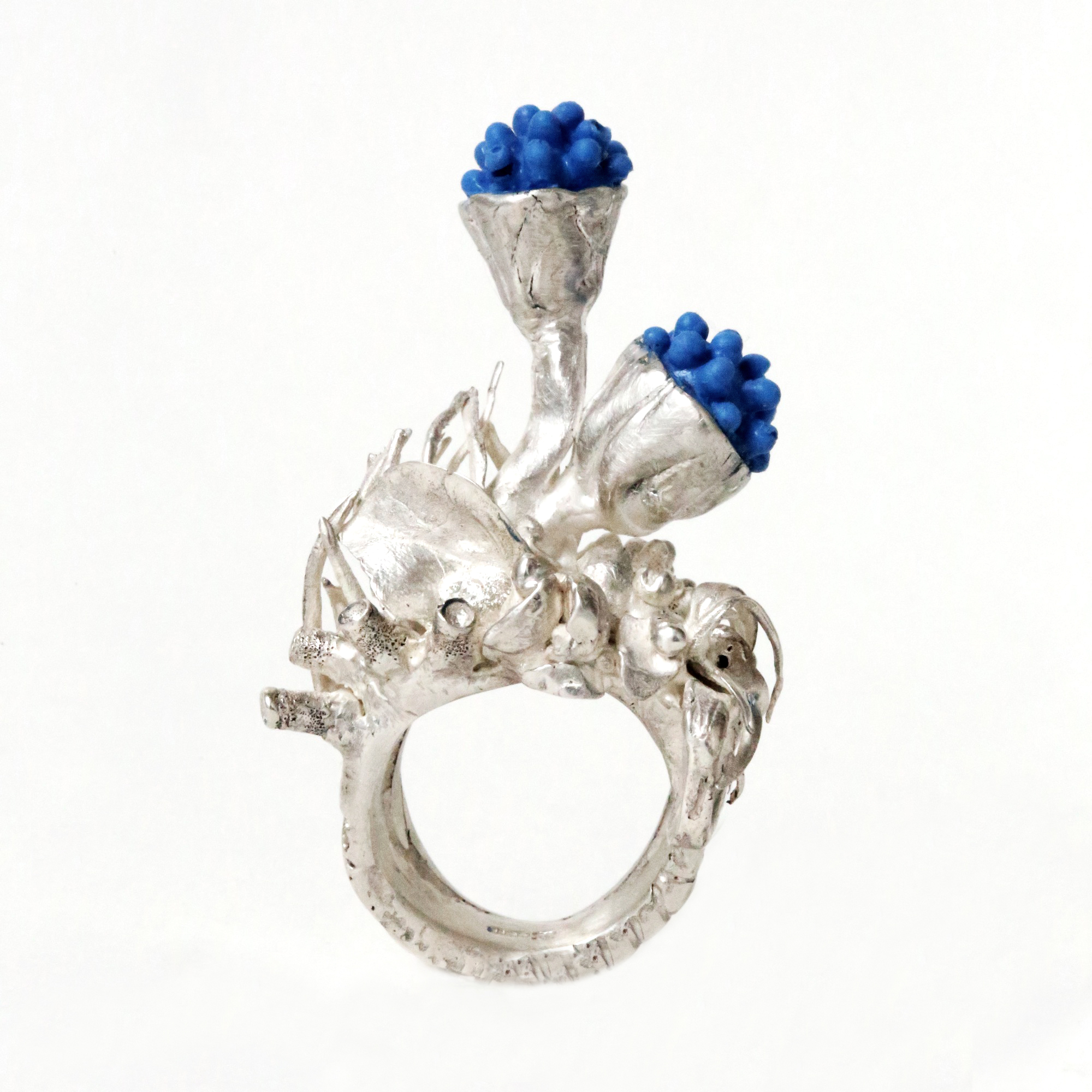 dovile b. statement coral reef ring
