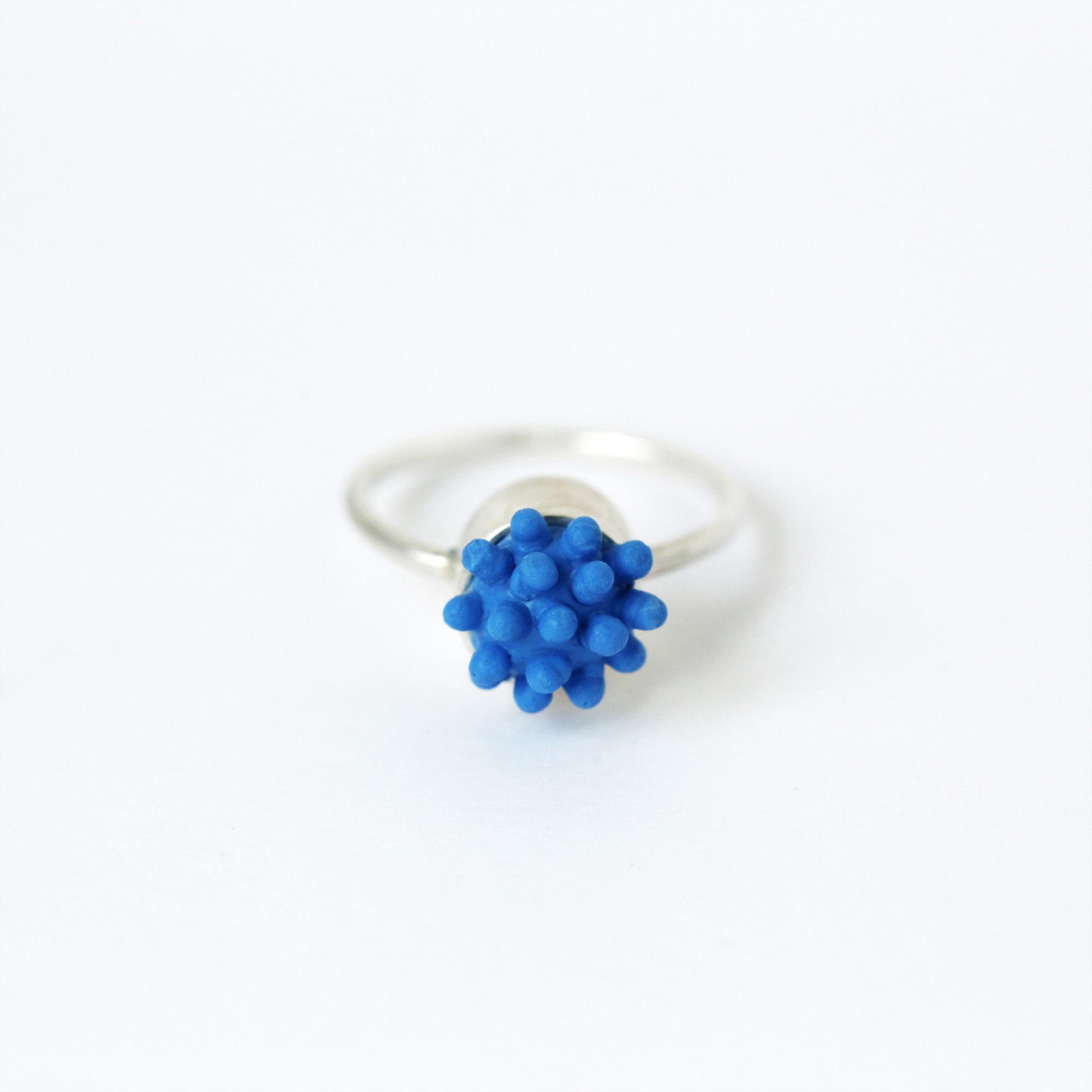 dovile b. nautilus hard soft statement tiny blue ring