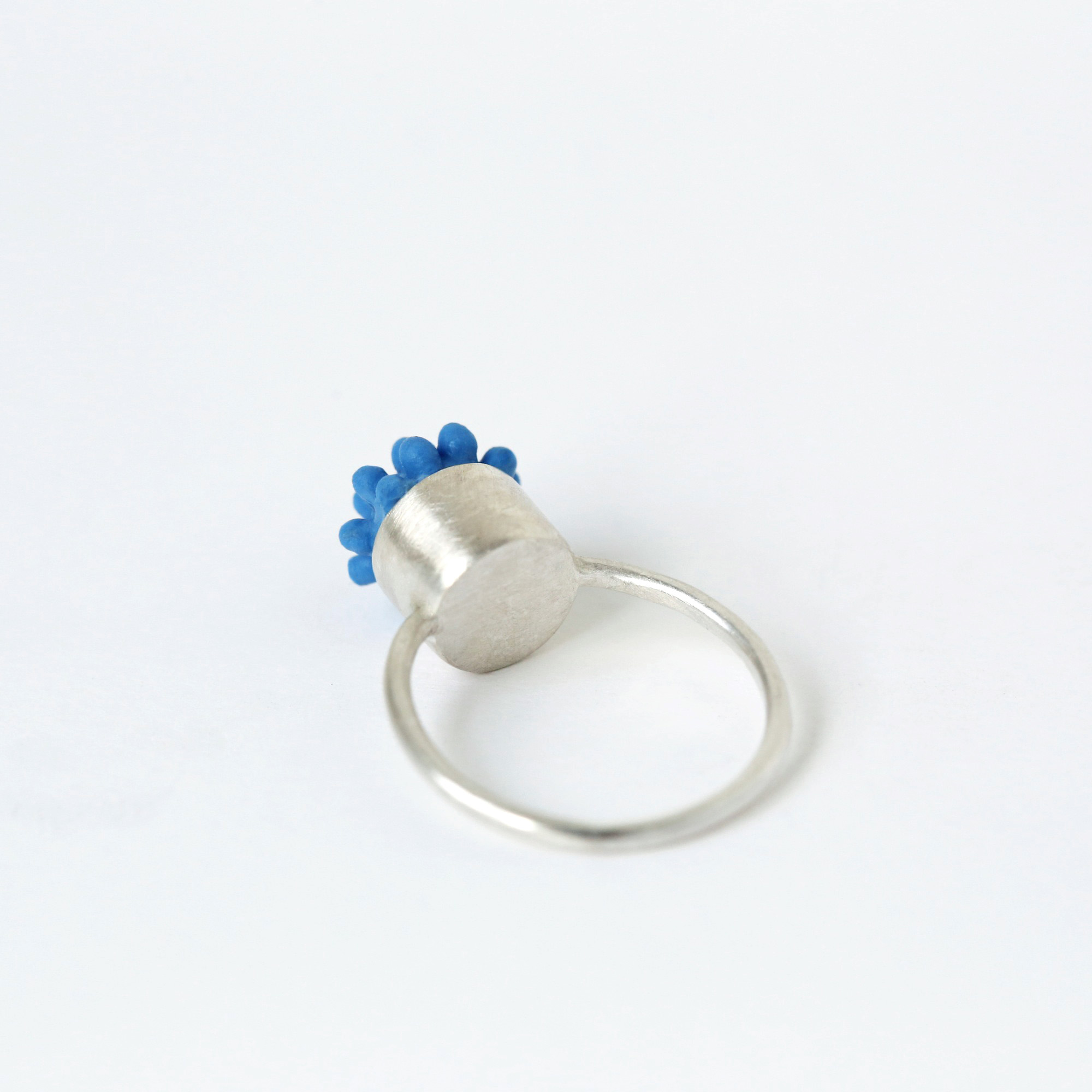 dovile b. nautilus hard soft statement tiny blue ring