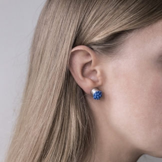 Hard Soft | Silicone and Silver Post Earrings