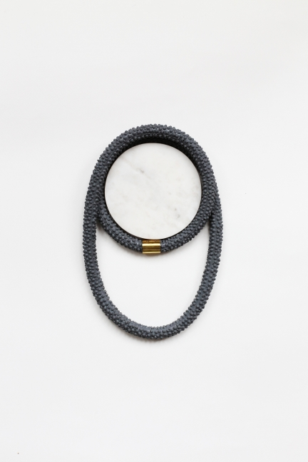 Nautilus | Statement Silicone Necklace | Asphalt Grey