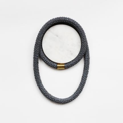 Nautilus | Statement Silicone Necklace | Asphalt Grey
