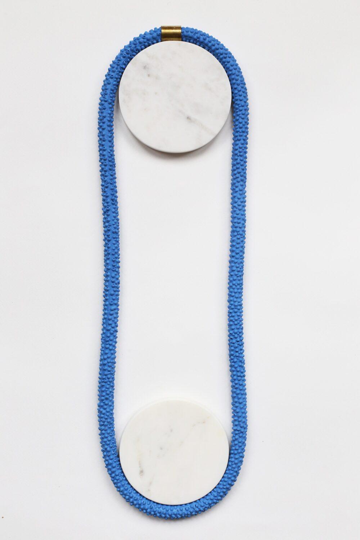 Nautilus | Statement Silicone Necklace | Blue