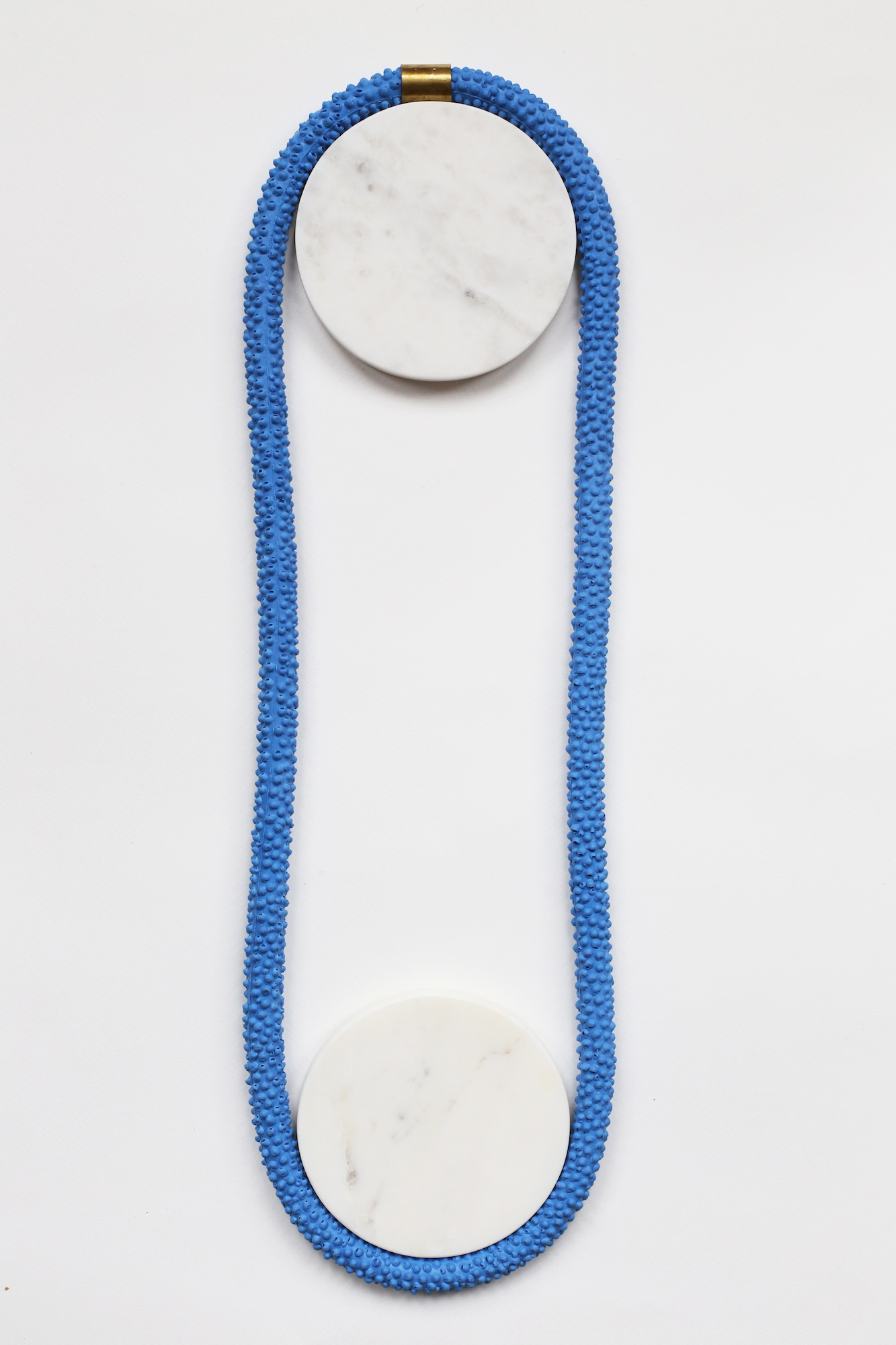 Nautilus | Statement Silicone Necklace | Blue