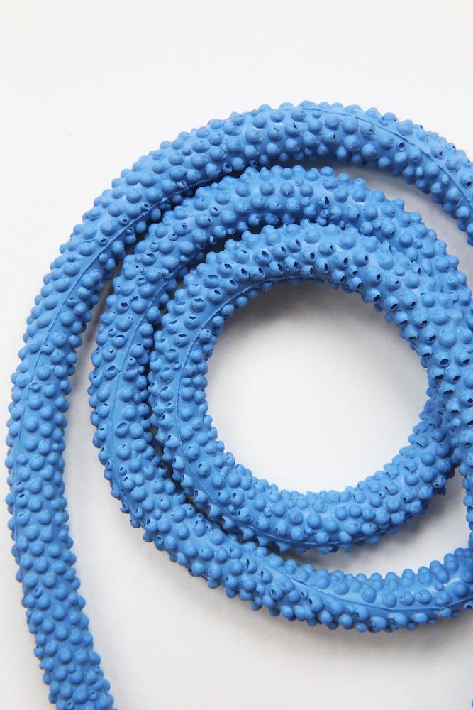 Nautilus   Statement Silicone Necklace   Blue
