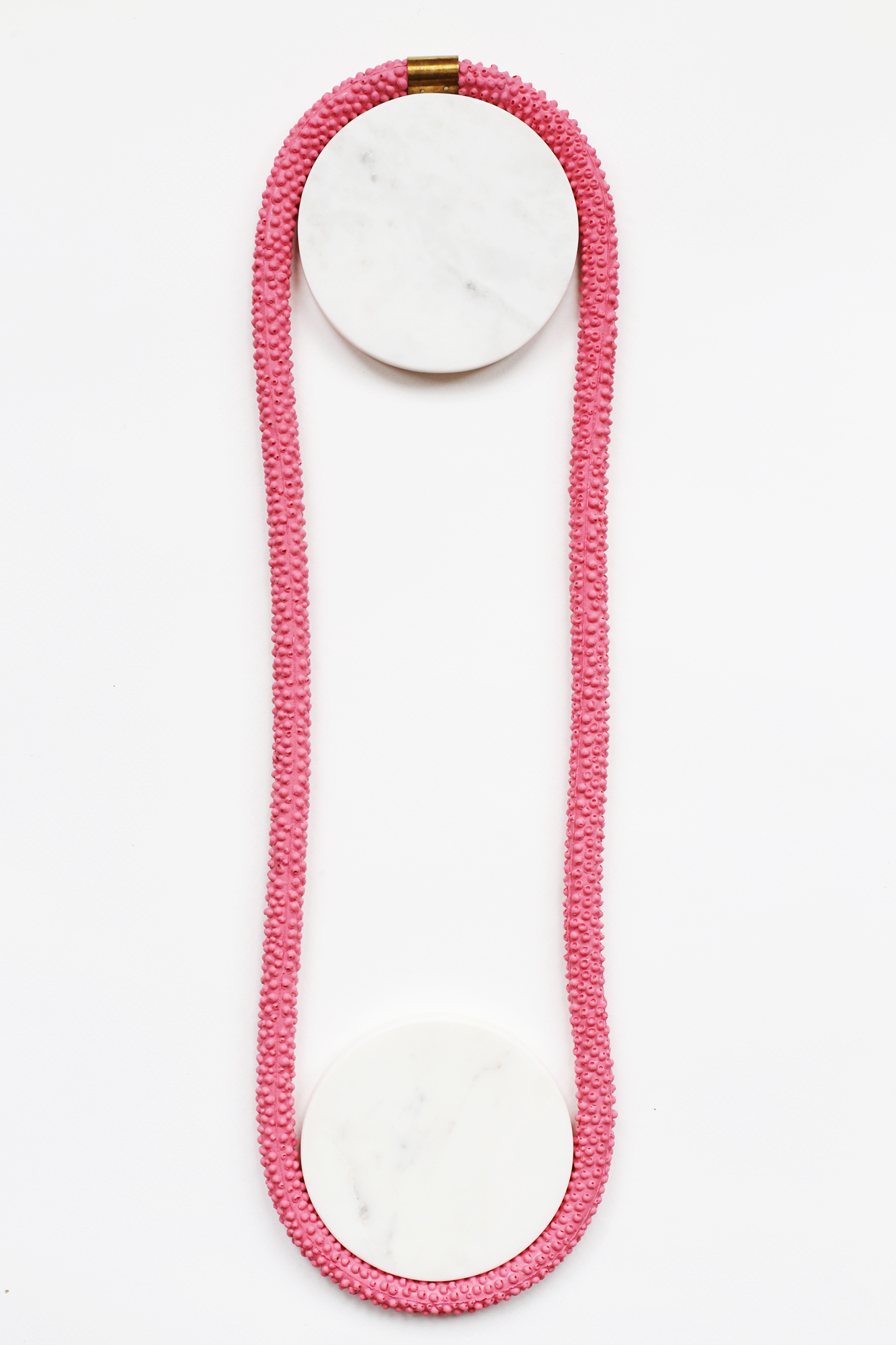 Nautilus | Statement Silicone Necklace | Pink