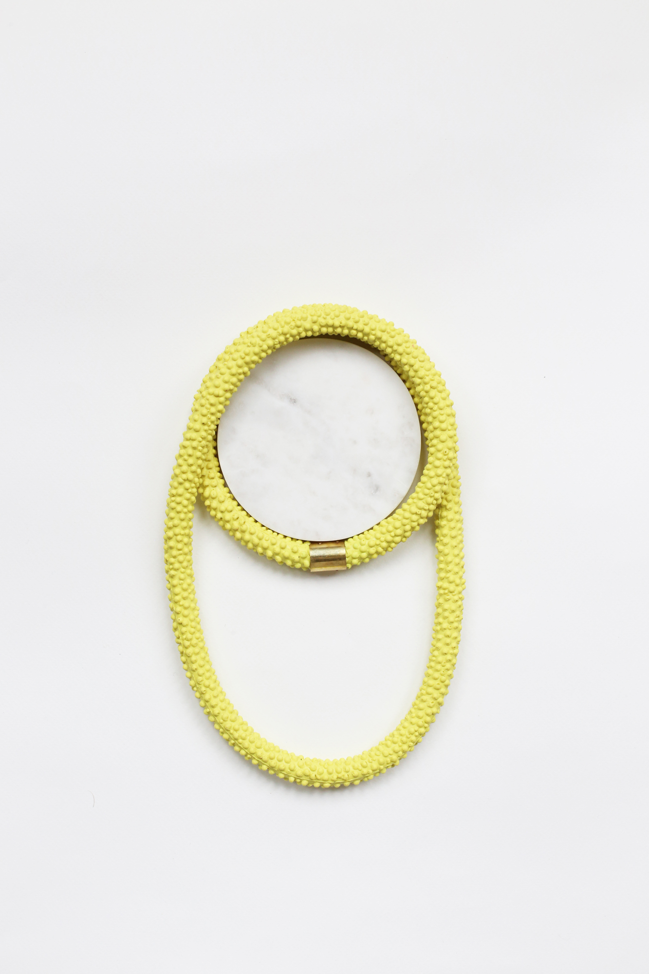 Nautilus | Statement Silicone Necklace | Yellow
