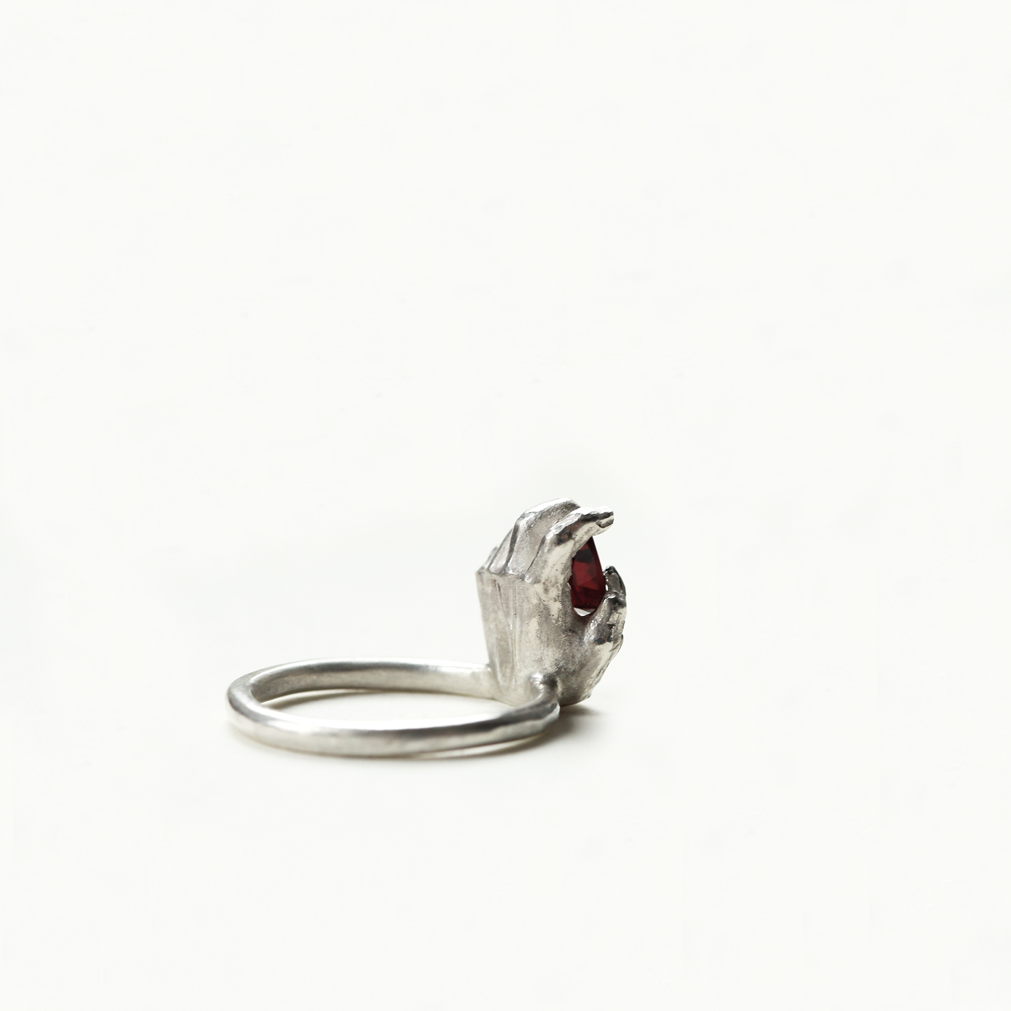 dovile b. always in my heart hand statement ring