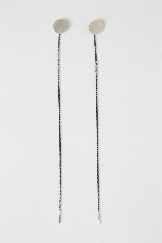 dovile b. threaded silver disk earrings