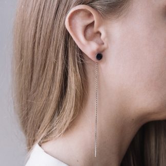 Disque | Silver Threaded Earrings